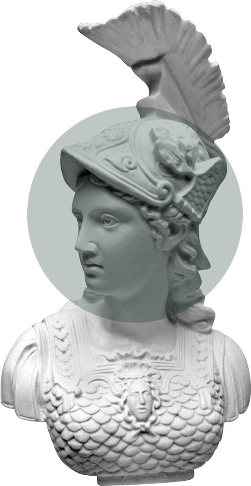 Delfitex: Athena, dea della sapienza, della tessitura e delle arti
